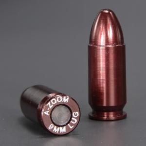 A-ZOOM 空撃ちケース 9mmパラベラム弾 5個セット スナップキャップ 空撃用 ダミーカート ダミーラウンド銃 ハンドガン ||revolutjp