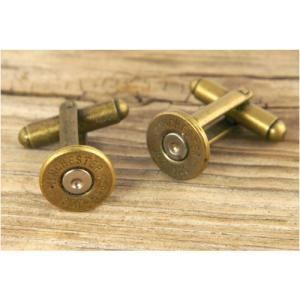カフスボタン 357マグナム 弾底部 古美 Winchester CuffLinks s&w|revolutjp