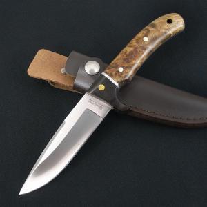 ●ナイフメイカーBOKERのブランド、マグナムのフィクスドブレードナイフは丸みを帯びた美しいバールウ...