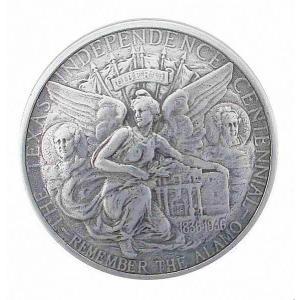 ●1934年のハーフダラー、テキサスの独立100周年記念のコインコンチョのレプリカです。裏面にシカゴ...