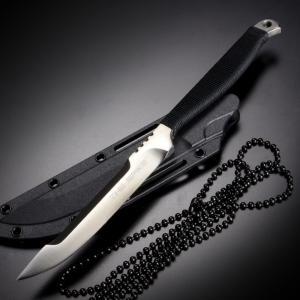 ●コールドスチールのネックナイフ、東京スパイクです。420ステンレス製のフルタング構造ボディはコンパ...