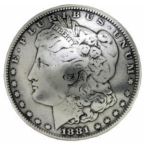 ●1881年のワンダラー、コインコンチョのレプリカです。E Pluribus Unumはラテン語で『...