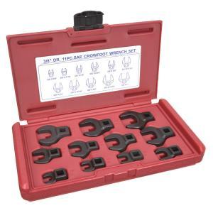 クローフットレンチ 3 8-1インチ 11個セット 専用ケース クロウフットレンチ 水栓レンチ|revolutjp