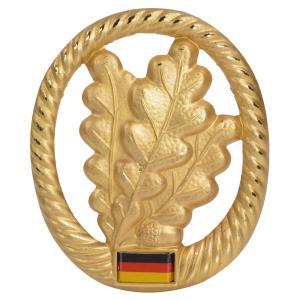 ドイツ軍放出品 記章ピンバッジ 歩兵 ベレー帽用 BW Jagertruppe 独軍 猟兵 階級章 徽章 金色 4本ピン Barett|revolutjp