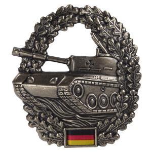 ドイツ軍放出品 記章ピンバッジ 戦車部隊 ベレー帽用 BW Panzer 独軍 装甲 階級章 徽章 4本ピン Barett revolutjp