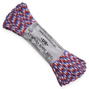 ATWOOD ROPE 550パラコード タイプ3 リバティー アトウッドロープ ARM 商用 Liberty 赤 白 青 パラシュートコード 綱 revolutjp
