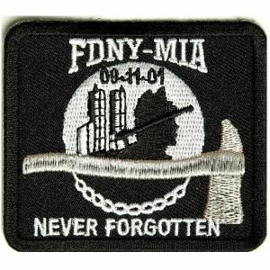 ワッペン FDNY MIA 消防 四角 熱圧着式 9.11 ファイヤーファイター 戦闘中行方不明 | ミリタリーミリタリーパッチ アップリケ 記章|revolutjp
