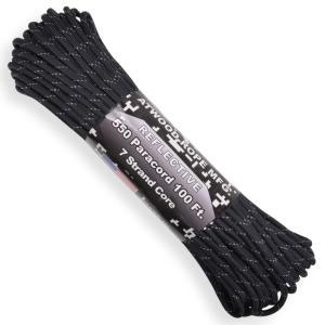 ATWOOD ROPE 反射材 550パラコード タイプ3 ブラック [ 30m ] アトウッドロープ ARM 商用 Reflective revolutjp