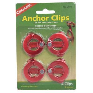 COGHLANS アンカークリップ 吊り下げ用 レッド 4個セット コフラン ANCHOR CLIPS ストラップ フック アウトドア用品|revolutjp