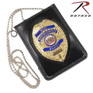 Rothco ID&バッジホルダー 1139 ネックチェーン付 IDカード&バッジホルダー   IDホルダー 名札入れ 社員証 IDカードケース revolutjp