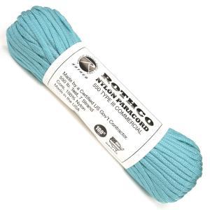 ●ロスコ製の青色系のカラータイプのパラコード●ミリタリーブランドロスコ製のパラコード。パラコード内部...