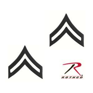 Rothco ピンバッジ アメリカ陸軍 階級章 伍長 2個入 [ サブデュード ] ピンズ ミリタリーバッジ ミリタリーバッチ 記章 徽章 襟章|revolutjp