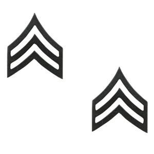 Rothco ピンバッジアメリカ陸軍 階級章 軍曹 2個入 [ サブデュード ] ピンズ ミリタリーバッジ ミリタリーバッチ 記章 徽章 襟章 肩章|revolutjp