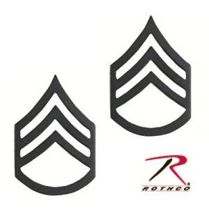 Rothco ピンバッジ アメリカ軍階級章 二等軍曹 2個入 [ サブデュード ] ピンズ ミリタリーバッジ ミリタリーバッチ 記章 徽章 襟章|revolutjp