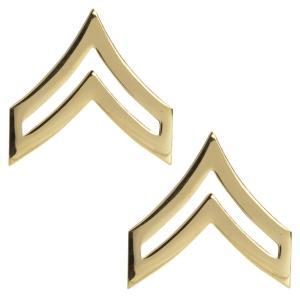 Rothco ピンバッジ アメリカ陸軍 階級章 伍長 2個入 [ ゴールド ] ピンズ ミリタリーバッジ ミリタリーバッチ 記章 徽章 襟章 肩章|revolutjp