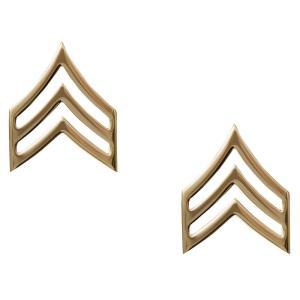 Rothco ピンバッジアメリカ陸軍 階級章 軍曹 2個入 [ ゴールド ] ピンズ ミリタリーバッジ ミリタリーバッチ 記章 徽章 襟章 肩章|revolutjp