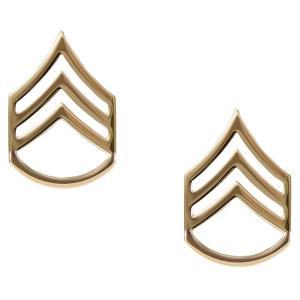 Rothco ピンバッジ アメリカ軍階級章 二等軍曹 2個入 [ ゴールド ] ピンズ ミリタリーバッジ ミリタリーバッチ 記章 徽章 襟章 肩章|revolutjp