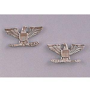 Rothco ピンバッジ 米軍階級章 大佐 2個セット [ シルバー ] ピンズ ミリタリーバッジ ミリタリーバッチ 記章 徽章 襟章 肩章 胸章|revolutjp