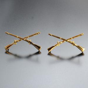 Rothco ピンバッジ 1751 米軍徽章 歩兵 ゴールド 2個セット ピンズ ミリタリーバッジ ミリタリーバッチ 記章 襟章 肩章 胸章 袖章|revolutjp