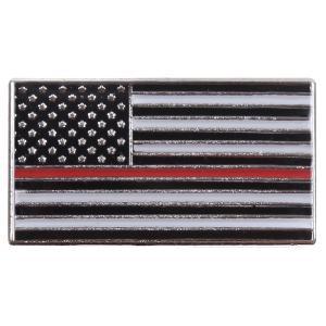Rothco ピンバッジ 星条旗  シン・レッド・ライン 1968 ピンズ ミリタリーバッジ ミリタリーバッチ 記章 徽章 襟章 肩章 胸章 袖章|revolutjp