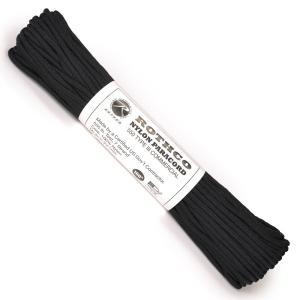 ROTHCO パラコード タイプ3 ブラック [ 30m ] ロスコ 550パラコード パラシュートコード ロープ 綱 靴紐 靴ひも シューレース revolutjp