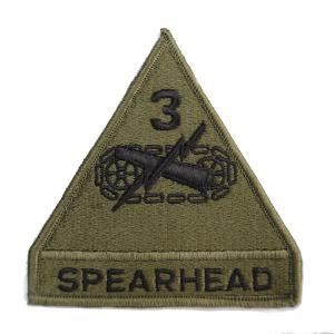 ミリタリーパッチ 第3機甲師団 SPEAR HEAD OD 3RD ARMORED スピアーヘッド   ミリタリーワッペン アップリケ 記章 徽章 revolutjp