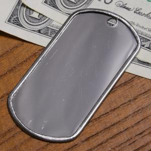 ドッグタグ プレート 鏡面 ステンレス 8381 | ドックタグ 認識票 DOG TAG つやあり 艶あり つやなし メンズアクセサリー
