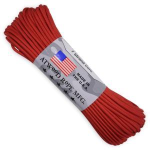 ATWOOD ROPE 550パラコード タイプ3 レッド アトウッドロープ ARM 赤 商用 パラシュートコード 綱 靴紐 靴ひも シューレース revolutjp