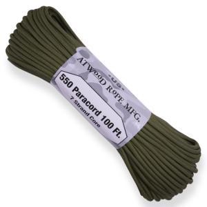 ATWOOD ROPE 550パラコード タイプ3 オリーブドラブ アトウッドロープ ARM Olive Drab カーキ 商用 パラシュートコード revolutjp