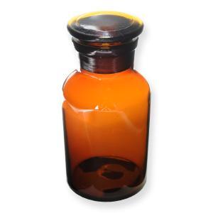 ●アンバーカラーでレトロなデザインのメディシンボトル●ちょっとした小物をいれておける薬瓶 メディシン...