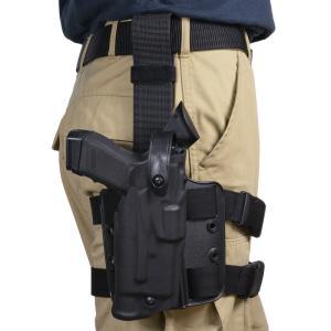 Safariland レッグホルスター Glock19 23 ライト対応 右 Wロックシステム サファリランド ドロップリグホルスター グロック19 revolutjp