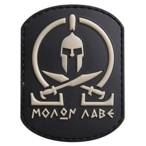 ●スパルタンの兜と剣、モットーがデザインされたパッチ●FIVE STAR GEARのBLACK MO...