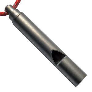 ●バーゴのチタン製のホイッスル。軽量化を優先したいときにどうぞ!●バーゴのチタン製のホイッスル。防災...