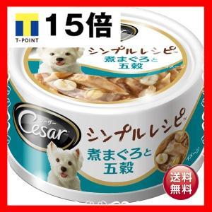 犬:ドッグフード  (まとめ)シーザー シンプルレシピ 煮まぐろと五穀 80g【×48セット】【ペッ...