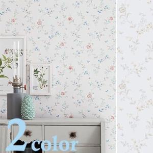輸入壁紙 スウェーデン製 BORASTAPETER 巾53cm×長さ10.05m 北欧 貼ってはがせる壁紙 フリース壁紙 はがせる壁紙 DIY 壁紙 はがせる 賃貸 壁紙 花柄|rewall