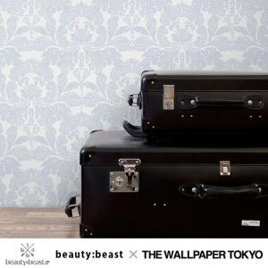 beauty:beast 壁紙 クロス 不織布 ダマスク アリ ブルー 貼ってはがせる壁紙|rewall