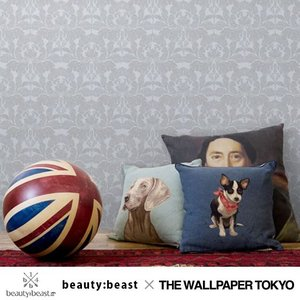 beauty:beast 壁紙 クロス 不織布 ダマスク アリ グレー 貼ってはがせる壁紙|rewall