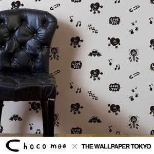 Chocomoo 壁紙 クロス 不織布 ポップ 可愛い 貼ってはがせる壁紙|rewall