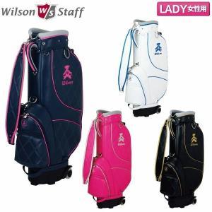 Wilson BEAR-013 ベアー キャスター付き キャディバッグ 9型 レディース ゴルフ ゴルフバッグ 可愛い 送料無料|rex2020