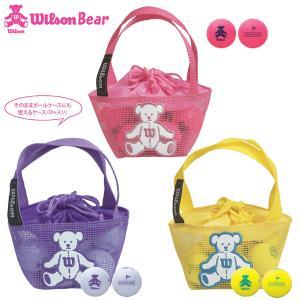 Wilson BEAR4 ゴルフボール レディース ウィルソン ベアー4 女性用 ネットバッグ入り 10個入り 全3色 2020年モデル rex2020