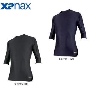 ザナックス ジュニア用 野球 七分袖ミドルネック パワーアンダーシャツ XANAX BUS303JS|rex2020