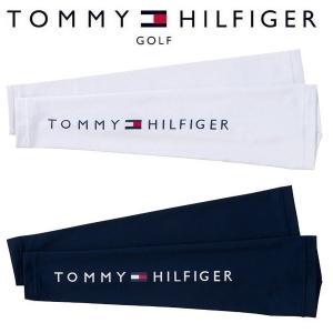 トミーヒルフィガー  ゴルフ サンガード アームカバー 腕 日焼け防止 ホワイト 吸水速乾 THMB920F Tommy Hilfiger 男女兼用|rex2020