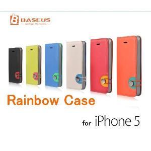iPhone5s iPhone5 Rainbow ケース カバー BASEUS rexiao