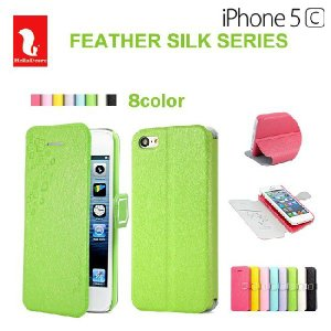 iPhone5c ケース カバー Feather Silk series DER|rexiao