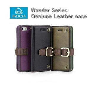 iPhone5s iPhone5 Wander Series Geniune 本革レザー ケース ROCK 【メール便不可】|rexiao