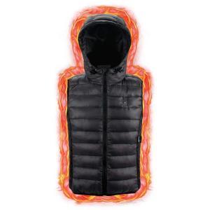 OLAXER 電熱ベスト 軽量 3段温度調整 電熱ウェア 暖房服 防寒グッズ 防寒ベスト ヒーター内...