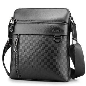 SPAHER メンズ カバン ショルダーバッグメンズ 革レザー 肩掛けバッグ 縦型 手提鞄 iPad...