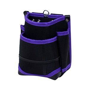KH 武尊魂 二段 腰袋 黒/紫 TK02K-P