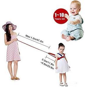 HEARTST 子供セーフティーハーネス 幼児 迷子防止ひも補助器具牽引ロープ 手首 反ロスト安全縄 幼児 安全 子供保護用 (ブルー)