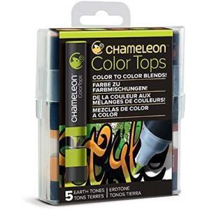 カメレオンペン カラートップ 色のブレンド 5本 EARTH TONES SET(正規品)